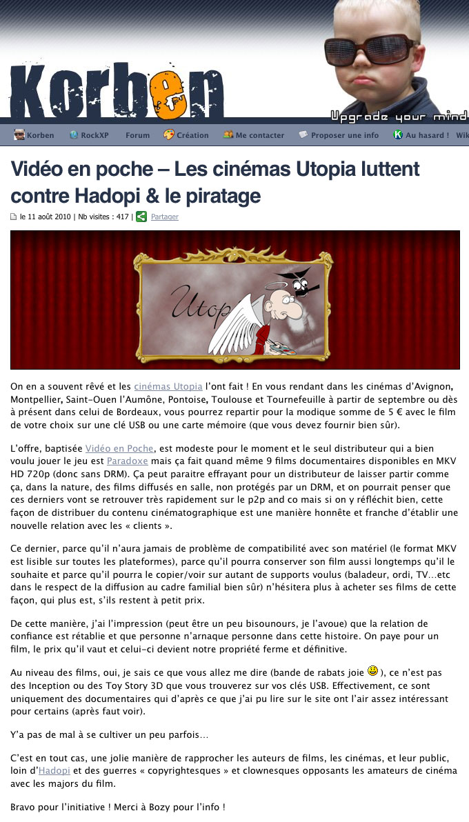 Video En Poche Is Already A Success We Are Now Beyond The Experimental Phase Extending And Building An Efficient Network Of Independent Theaters In